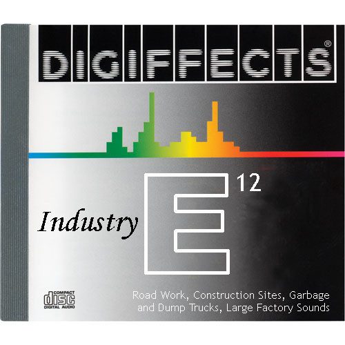 Sound Ideas Sample CD: Digiffects Industry SFX - Road Work, Construction Sites, Garbage & Dump Trucks, Large Factory Sounds (Disc E12)