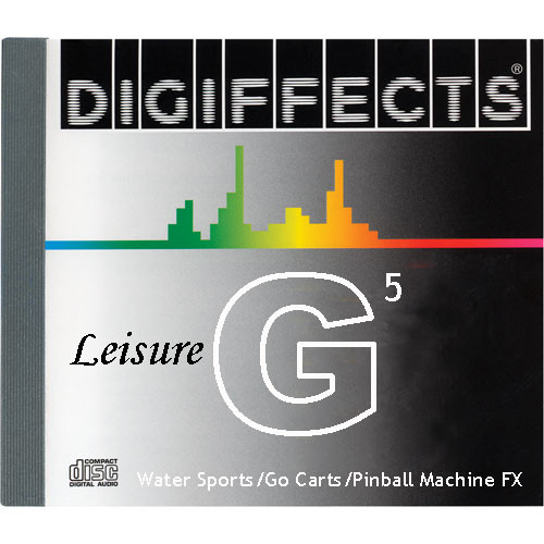 Sound Ideas Sample CD: Digiffects Leisure SFX - Water Sports, Go Carts & Pinball Machine FX (Disc G05)