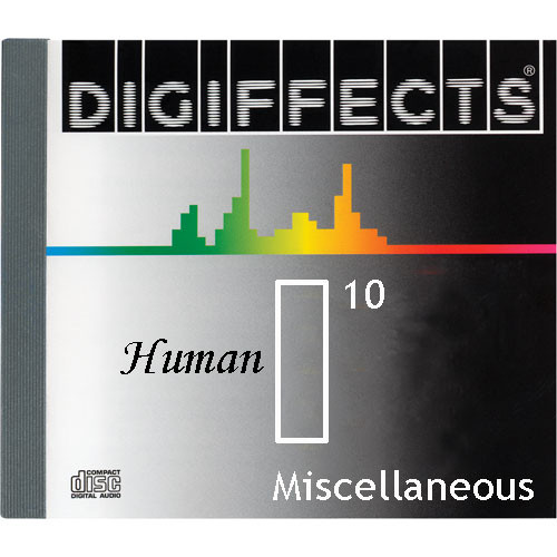 Sound Ideas Sample CD: Digiffects Human SFX - Miscellaneous (Disc I10)