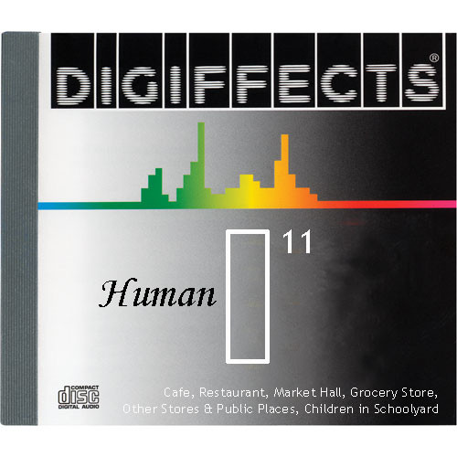 Sound Ideas Sample CD: Digiffects Human SFX - Cafe, Restaurant, Market Hall, Grocery Store, Other Stores & Public Places, Children in Schoolyard (Disc I11)