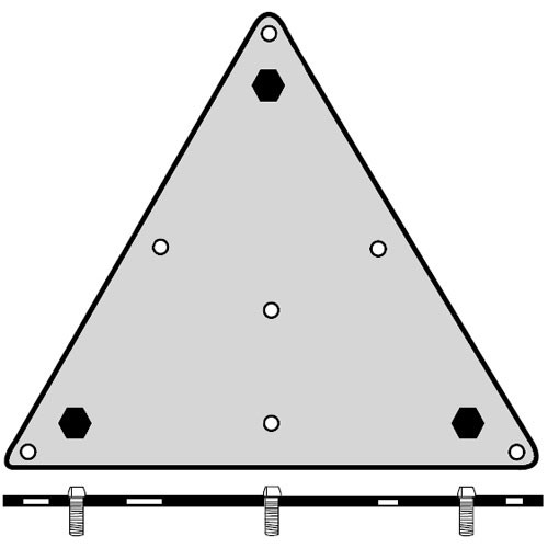 Soundsphere MBM - Flat Surface Mounting Bracket - Compatible w/Q-8 Loudspeakers