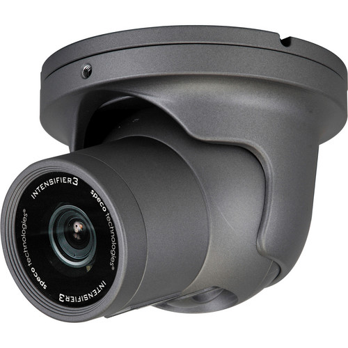 Speco Technologies Intensifier3 Series Day/Night Indoor/Outdoor Dome Camera with 2.8 to 12mm Varifocal Lens (Dark Gray)