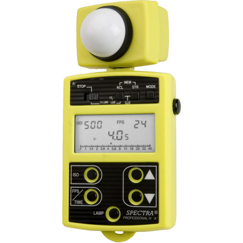 Spectra Cine Professional IV-A Digital Exposure Meter (Yellow)