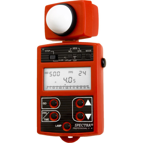 Spectra Cine Professional IV-A Digital Exposure Meter (Red)