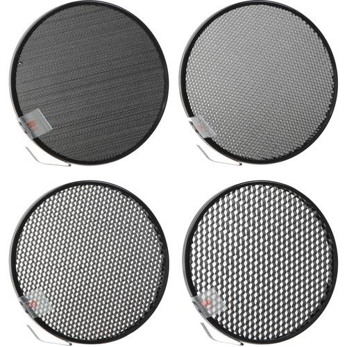 """Speedotron 7"""" Honeycomb 4-Grid Set (10, 20, 30, 40°)"""