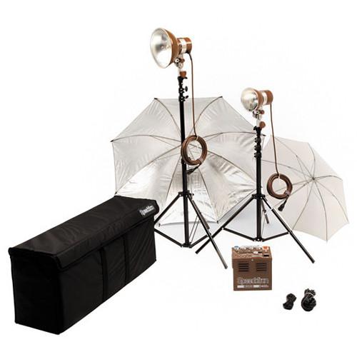 Speedotron DM402 2 CC Head Kit - Includes: D402 - 400 W/S Power Pack, 1 M90CC, 1 MW3UCC Flash Head, Umbrellas, Sync Cord, Light Stands, Case
