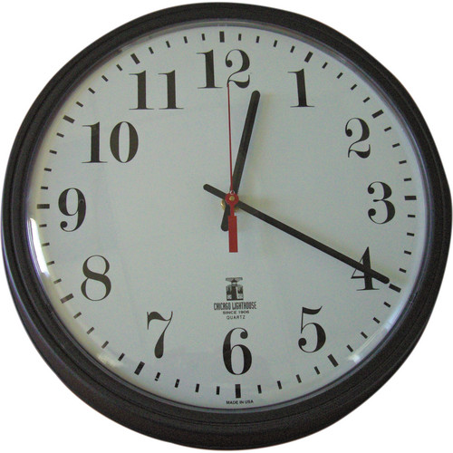 Sperry West SW1300A Industrial Wall Clock Covert Camera