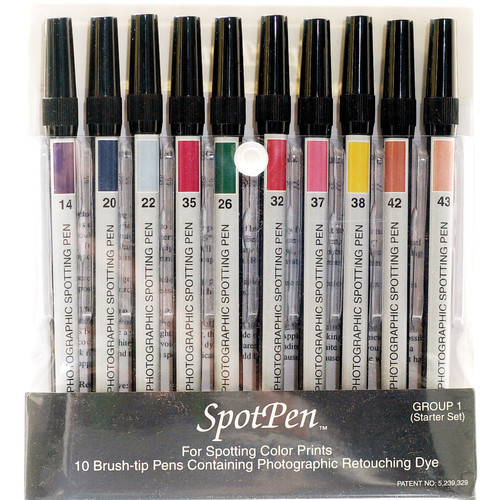SpotPen Spotpen Group No.1 Retouching Pen Set for Color Prints - Set of 10