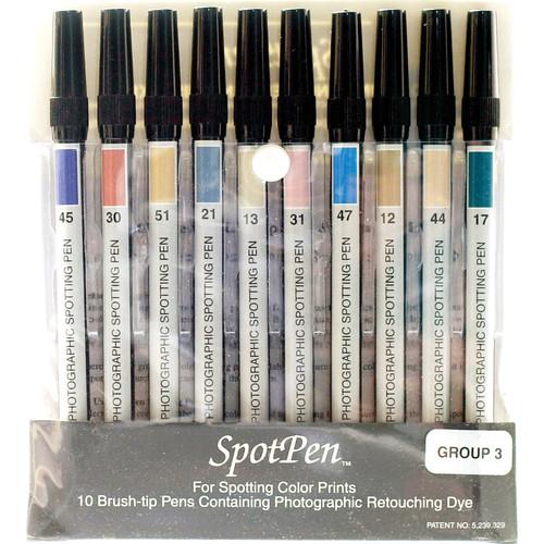 SpotPen Spotpen Group No.3 Retouching Pen Set for Color Prints (Set of 10)