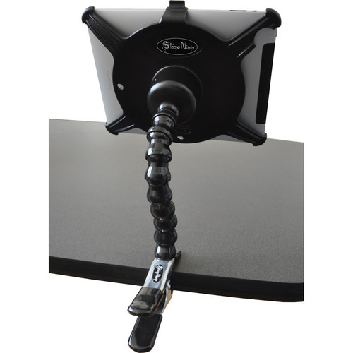 Stage Ninja IPA-8-CB Scorpion Series iPad / iPad 2 Mount with Industrial Steel Clamp