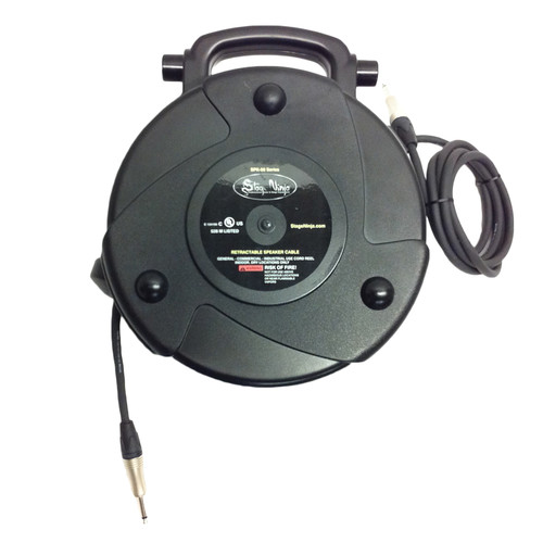 Stage Ninja Retractable Speaker Cable 14 Gauge 58'