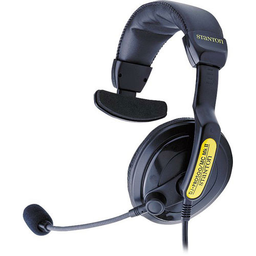 Stanton DJ-P500MCMKII Single Ear DJ Headset with Mic