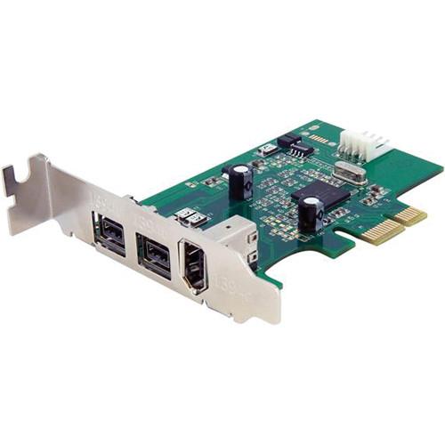 StarTech 3 Port 2b 1a 1394 PCI Express FireWire Adapter Card