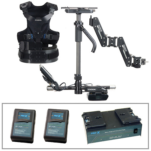 Steadicam Scout Camera Stabilizer (AB Mount, Vest), 2 Batteries and Charger Kit