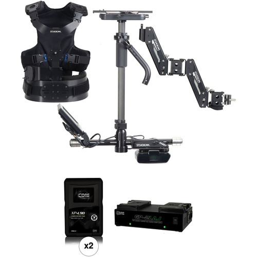 Steadicam Scout Camera Stabilizer (AB Mount, Vest), Two Batteries & Charger Kit