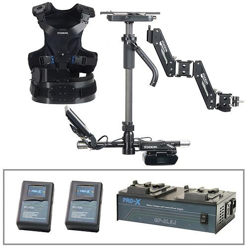 Steadicam Scout Camera Stabilizer (Standard Vest), V-Lock Batteries&Charger Kit