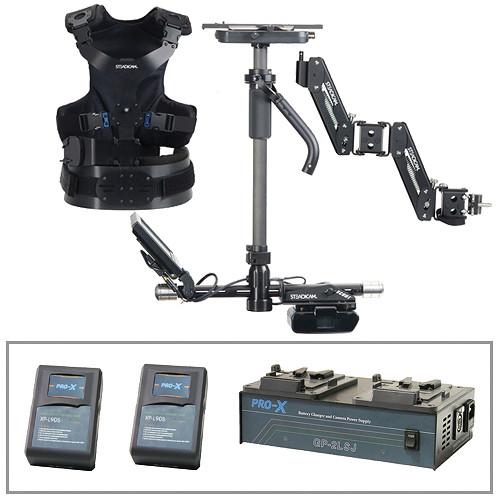 Steadicam Scout Camera Stabilizer (V-Lock Mount, Vest), Batteries/Charger Kit