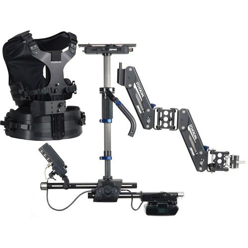Steadicam Zephyr Camera Stabilizer, HD Monitor, Vest, Batteries/Charger Kit