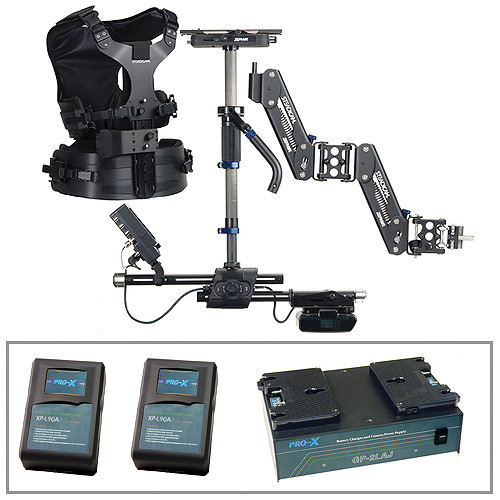 Steadicam Zephyr Camera Stabilizer, HD Monitor, Vest, Batteries/Charger Kit