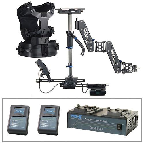 Steadicam Zephyr Camera Stabilizer (V-Lock, Vest), 2 Batteries and Charger Kit