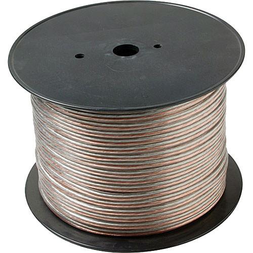 Steren 18-Gauge 2-Conductor Economy Speaker Wire, Clear - 1000' Spool