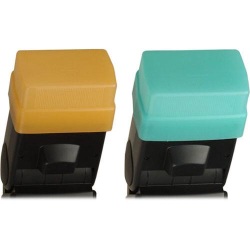 Sto-Fen OC-600SET Green and Gold Omni-Bounce Diffuser Set