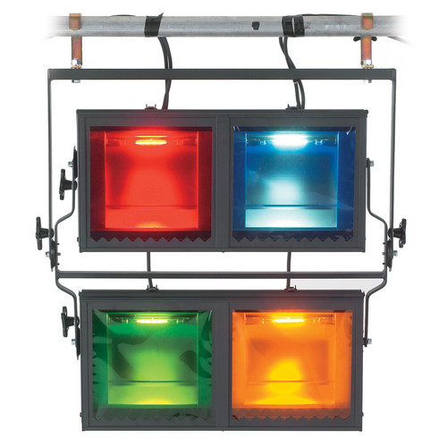 Strand Lighting Aurora 4-Way Square Cyc Light--Pole Operated (120VAC)