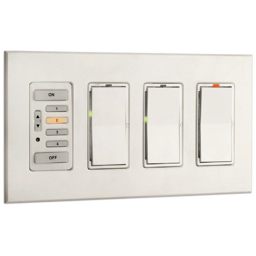 Strand Lighting 61200 Environ3 Strap-Style 4-Preset Master Control Station (Ivory Finish)