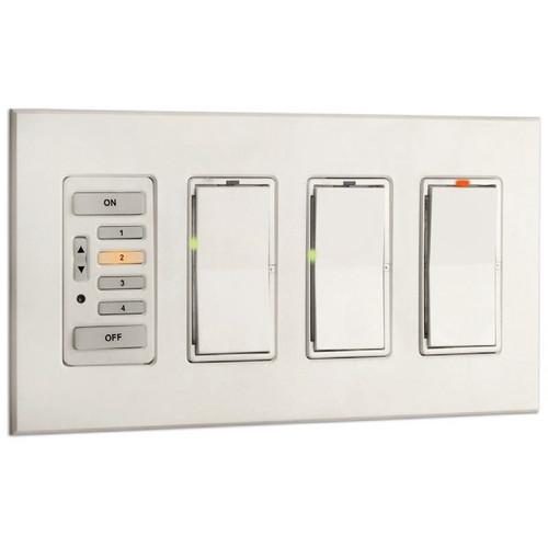 Strand Lighting 61200 Environ3 Strap-Style 4-Preset Master Control Station (Ivory Finish)