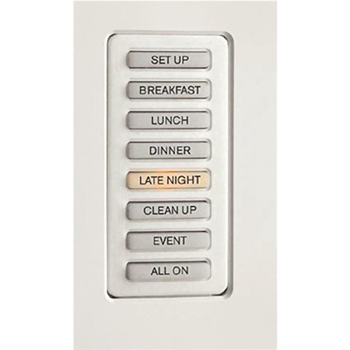 Strand Lighting 61201H Environ3 Heatsink 8-Preset Master Control Station (Ivory Finish)