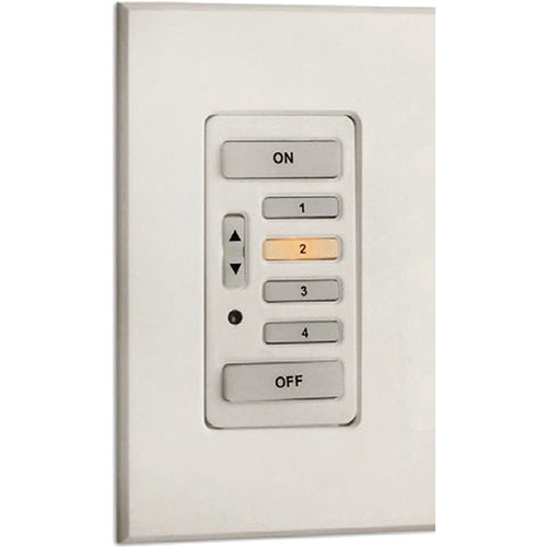 Strand Lighting 61202 Environ3 Heatsink 4-Preset Master Control Station (Ivory Finish)
