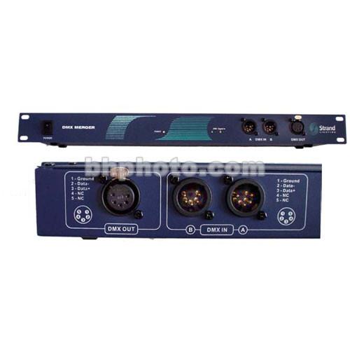 Strand Lighting DMX Merge Controller - 2 In, 1 Out - Rackmount (100-240V)