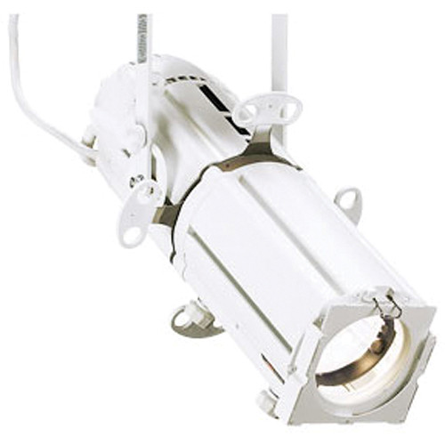 Strand Lighting Astral Axial 24-44 Degree Zoomspot CDM Ellipsoidal - Global Track Adapter and Mechanical Adapter - (White) (120V)