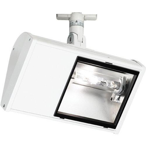 Strand Lighting 150 W Wing Metal Halide Wall Wash Flood with Lightolier Track Adapter (White)