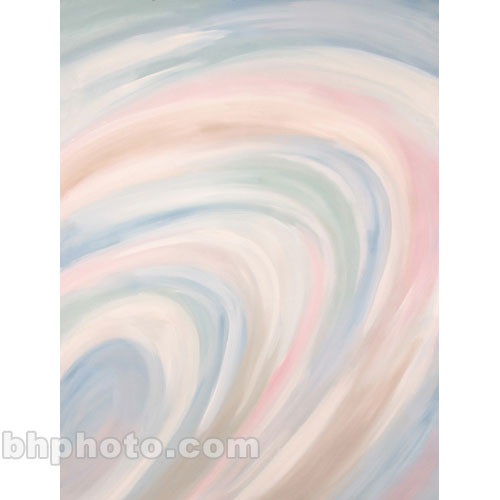 Studio Dynamics Canvas Background, Lightstand Mount - 7x8' - (Pastel Whirl)