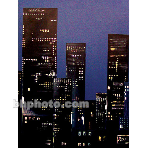 Studio Dynamics Canvas Scenic Background (9 x 12', City at Night)