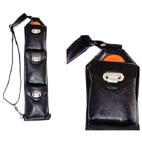 Sucaro Freedom Strap with Drop Lock Flaps (Smooth Black Nappa Leather)