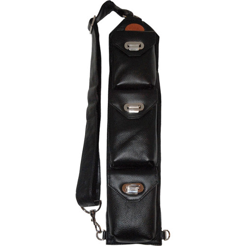 Sucaro Freedom Strap with Drop Lock Flaps (Pebble Black Leather)