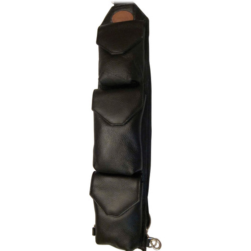 Sucaro Freedom Strap with Magnetic Flaps (Pebble Black Leather)