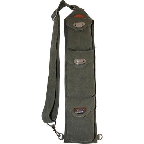 Sucaro Freedom Strap with Drop Lock Flaps (Dark Green Canvas)