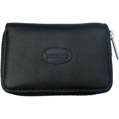 Sucaro Full Zippered Wallet (Black Nappa Leather)