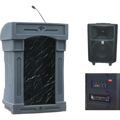 Summit Lecterns DaVinci Freedom Lectern (Gray Granite)