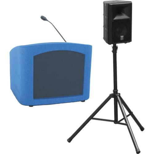 Summit Lecterns Presenter Desktop Lectern (Blue Granite)