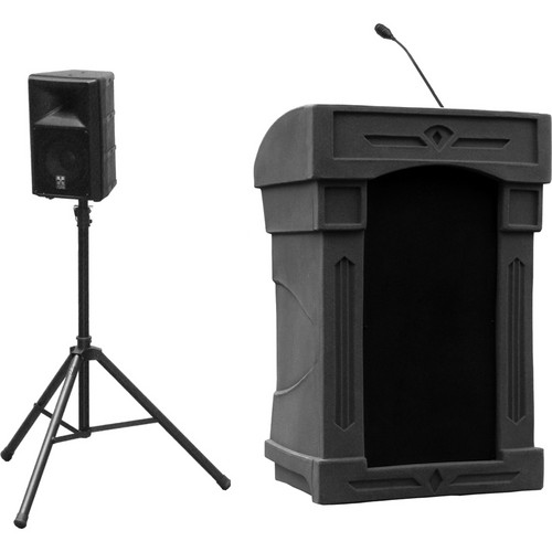 Summit Lecterns DaVinci Presenter Lectern (Black)
