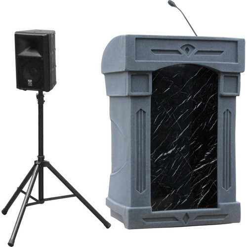 Summit Lecterns DaVinci Presenter Lectern (Gray Granite)