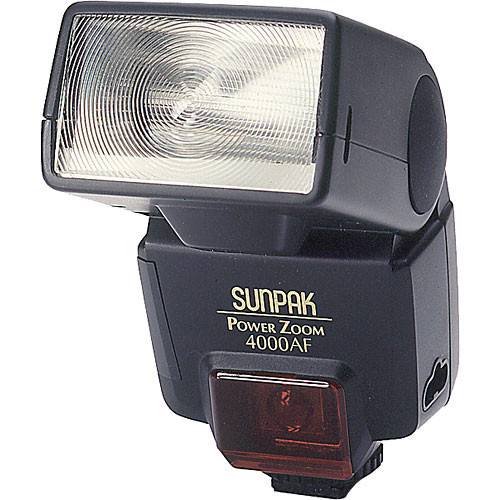 Sunpak PZ-4000AF TTL Flash for Minolta Cameras (Black)