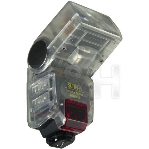 Sunpak PZ-4000AF TTL Flash for Nikon Cameras (Transparent)