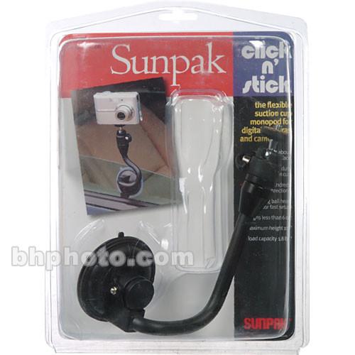 Sunpak Click 'n Stick Suction Cup Monopod with Mini Ballhead (Black)