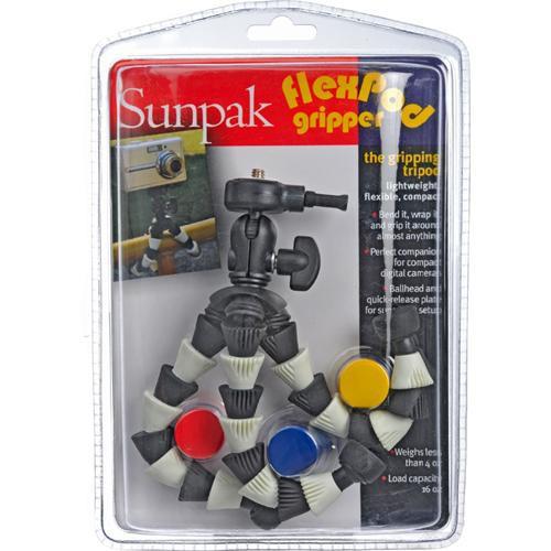 Sunpak FlexPod Gripper Flexible Mini-Tripod (Black and White)