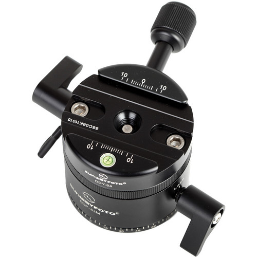 Sunwayfoto DDP-64MX Indexing Rotator with DDY-64 Discal Clamp for Panoramas
